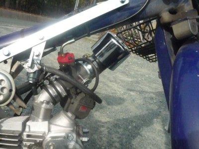 画像1: ヨシムラYD-MJN28キャブレター専用 パワーフィルターアダプター