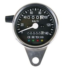 画像1: インジゲーターランプ付スピードメーター [φ60・機械式]ブラックパネル  (1)