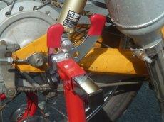 画像12: メンテナンススタンド用V型フック&フック受けナットセット (12)