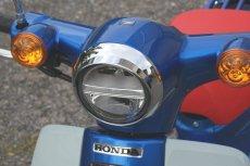 画像3: ミニバイザー付ヘッドライトリム [2018年以降のカブ110/50全車に適合]  (3)