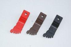 画像2: 足型サイドスタンドゴム[レッド・ブラウン・ブラック]  (2)