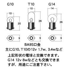 画像2: 拡散タイプLED球 BA9S口金型[カブのポジション球や行灯用等に]  (2)