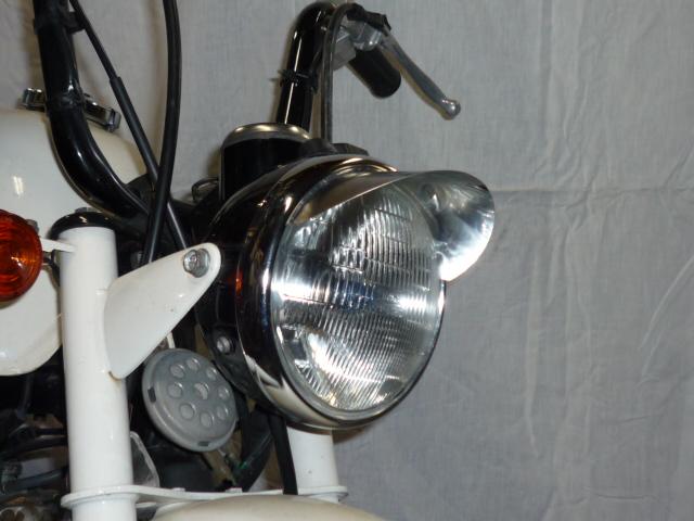 画像1: ヘッドライトバイザー(6cm)ステンレス製  (1)