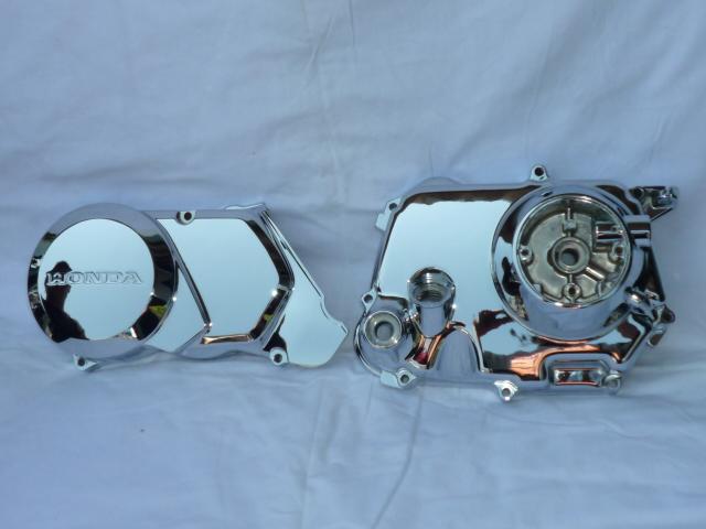 画像1: クランクケースカバー「クロムメッキ処理」  (1)