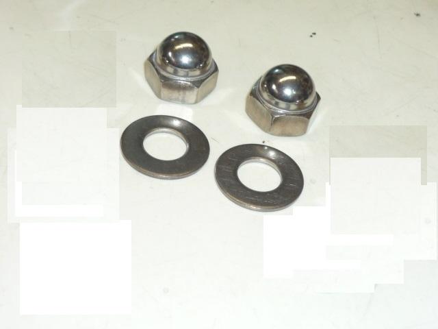 画像1: ステンレス製リアサス用 袋ナット&ワッシャ[M10xP1.25/2個セット] (1)