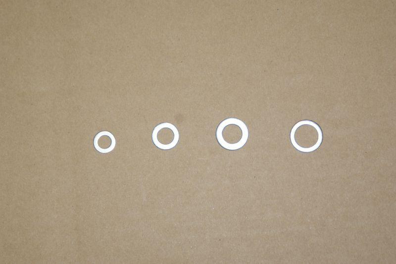 画像1: ドレンボルトパッキン (アルミ製ガスケット) [内径 8mm.10mm.12mm.14mm]  (1)