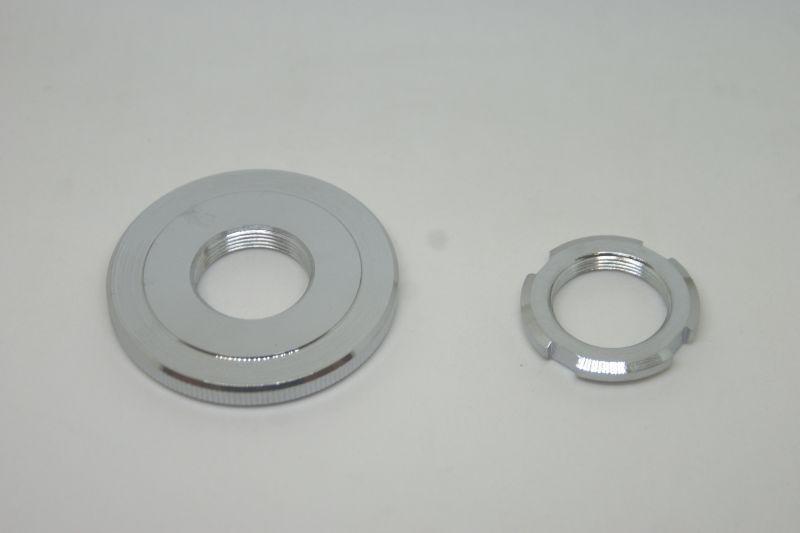 画像1: ダックス分離式フロントフォーク用(くるくるフォーク) ステムナット&ステムロックナット  (1)