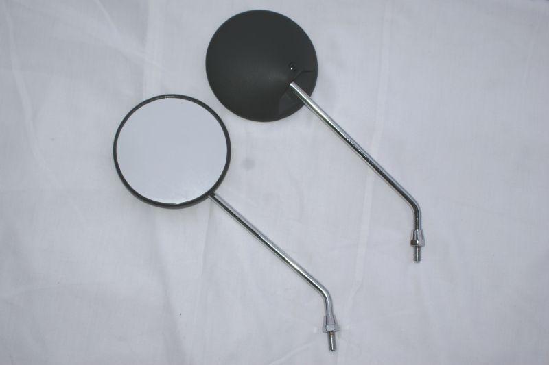 画像1: 純正風 汎用丸型ミラー (左右セット)  (1)