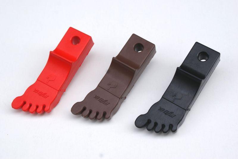 画像1: 足型サイドスタンドゴム[レッド・ブラウン・ブラック]  (1)